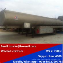 50000 litres de carburant huile réservoir Semi remorque surbaissée transport pétrolier