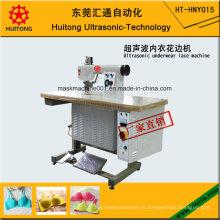 Máquina de encaje ultrasónico de la ropa interior