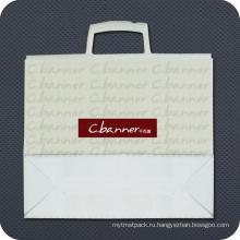 Напечатанная пластичная хозяйственная сумка с ручкой клип