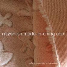 100% Polyester Pink Velvet Cut Flowers PV Fleece Fabric