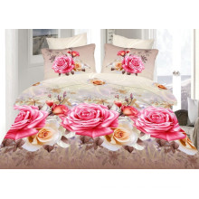 Bedclothes 3D Rose Flower Bedding Set Duvet Cover With Zipper 4PCS
