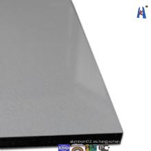 Panel de aluminio brillante de la pared de la pared 3D de la plata