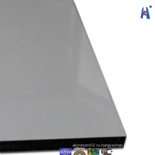 Сияющая серебристая трехслойная алюминиевая панель Compoiste