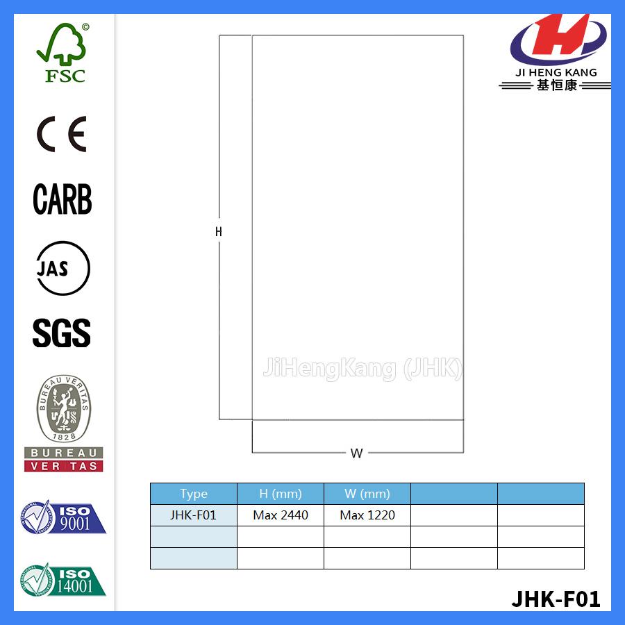 JHK-F01 Flat Best HDF Red Oak Door Skin