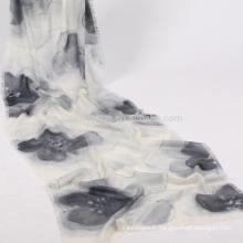 en gros peint à la main écharpe en soie sakura