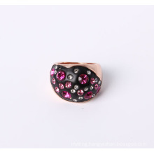 Fashion Jewelry Ring with Multi-Color Rhinestone