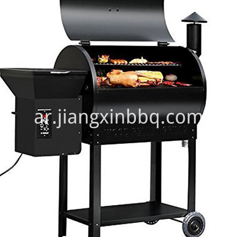 Portable Party Wood Pellet Bbq Grill Smoker 700 Cooking Area 8 In 1 Grill In Black Smoke