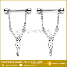 Nipple Rings Barbell Ring 316L Surgical Steel Naked Girl Dangle Nipple Shield Jewelry