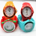 Fashion children wristband rubber silicone watch