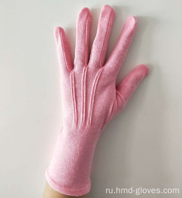 Cotton+Pink+Ladies+Gloves