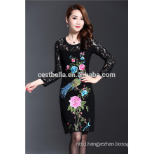 Hot new fashion products for 2016 Lace Neck Long Sleeve Sweater Women