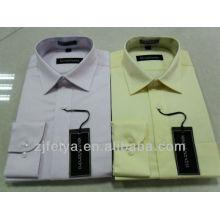 Camisa de vestir sin mangas 100% algodón sin hierro para hombre Camisa de manga larga para hombre FYST03 / 04-L
