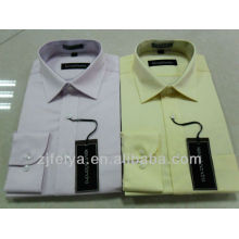 Месяц самых продаваемых 100%хлопок без железа мужчины платье рубашки бизнес длинный рукав тонкий рубашки подходят FYST03/04-Л