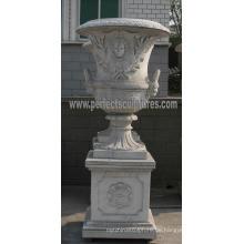Marmor Blumentopf für Gartenstein (QFP187)
