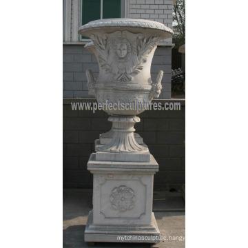 Marble Flowerpot for Garden Stone (QFP187)