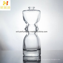 Bouteille en verre de parfum de conception de mode adaptée aux besoins du client d'usine chaude