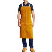 Heat Resistant Cow Split Leather Welding Apron for Welders