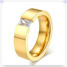 Jóias de aço inoxidável acessórios de moda anel de cristal (SR137)