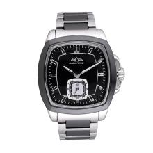 Logotipo personalizado de la fábrica todo el reloj del hombre de la moda del acero inoxidable
