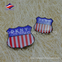Metal real rode safty pin printed epoxy badge