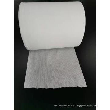 Tela de toalla de malla de algodón 100% Spunlace no tejido
