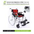 Luz dobrável em liga de alumínio cadeira de rodas manual