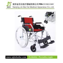 Light Foldable Aluminum Alloy Manual Wheelchair