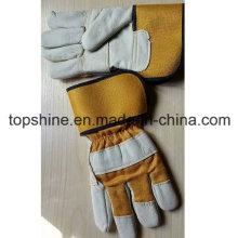 Venta caliente de seguridad industrial de piel de vaca de cuero de trabajo de Split guantes