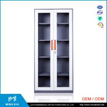 Luoyang Mingxiu Knock Down Structure 2 Glass Door Metal Glass Sliding Door Filing Cabinet