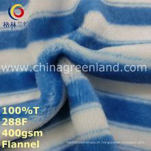 Listra impressa 100% poliéster tecido para têxteis de vestuário de pijama (gllml247)
