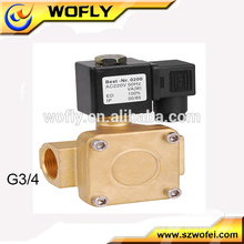 "16bar brass direct acting 1/2"" solenoid 12 v ip65"