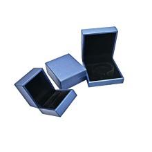 Caixas de anel pingente de luxo para joias de couro personalizadas