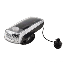 Horn Solar Powered USB Rechargeable Bicycle Headlight