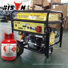BISÔNIA China Zhejiang 5KW 100% Cobre AC Monofásico Metano Gás Powered Gerador Set