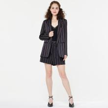 Stripe Women Suits Blazer