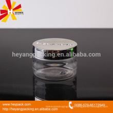 Diseño de la manera y jarra plástica de la calidad 100ml del grado con el casquillo metalizado