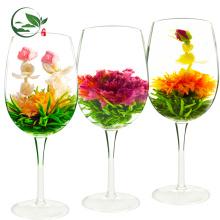 Floração orgânica linda floração bolas de chá