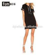 Frauen schwarz angepasste Farbe lässig t Shirt Sport Kleid Frauen schwarz angepasst Farbe lässig t Shirt Sport Kleid casual Kleid