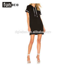 Women black customized color casual t shirt sport dress Women black customized color casual t shirt sport dress casual dress