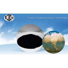 Waste incineration flue gas treatment with coal activated carbon