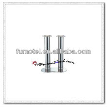 T212 H205mm Edelstahl Double Heads Votive hohen Kerzenhalter