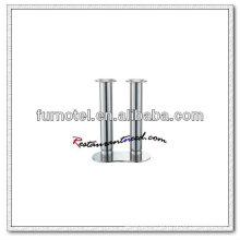 T212 H205mm de aço inoxidável de dupla cabeça Votive alto vela titular