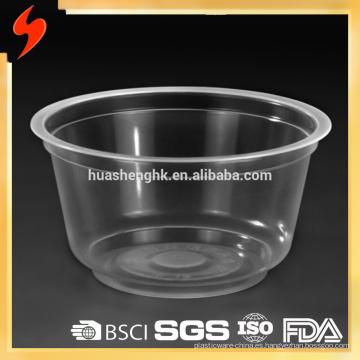 Cuenco plástico disponible Microwavable de las pastas 500ml de la categoría alimenticia