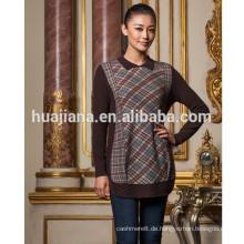 Mode Druckmuster Frauen Kaschmir langen Pullover