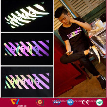 rainbow transfer reflector film for clothing and shoes