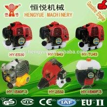 motor de gasolina de 71cc para herramientas de jardín del cepillo cortador y taladro de tierra