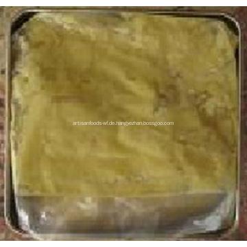 Zerdrückte Ingwer-Paste in Trommel