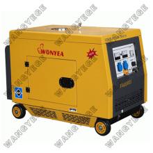 Generador diesel, interruptor de circuito protege la operación sobrecarga