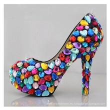 Nuevos zapatos de vestir de boda de las señoras del alto talón de la moda (A08)