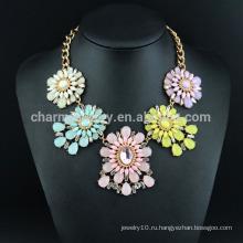 Цветок ожерелье ювелирные изделия 2015 мода роскошное ожерелье SN-034